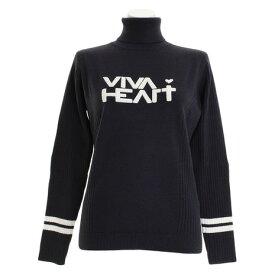 ビバハート(VIVA HEART) ゴルフウェア レディース ふわロゴセーター 012-18012-099 (Lady's)