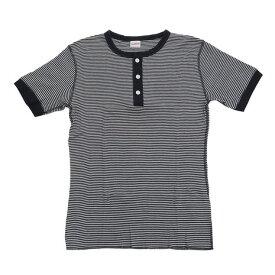 ヘルスニット(Healthknit) tシャツ 半袖 【多少の傷汚れありの為大奉仕】ベーシックワッフルヘンリーネック ショートスリーブ 601S-BNAVY (Men's)