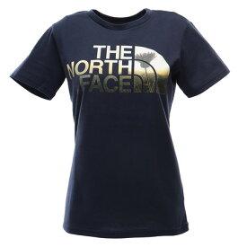 【7/25はエントリーで会員ランク別P10倍】ノースフェイス(THE NORTH FACE) HALF DOME FLOW tシャツ 半袖 NTW31901X CM 青 ブルー ネイビー 紺 ロゴT (レディース)