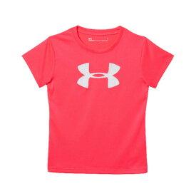 アンダーアーマー(UNDER ARMOUR) ガールズ ビックロゴTシャツ 4-6 1297198 PPK/WHT オンライン価格 (Jr)
