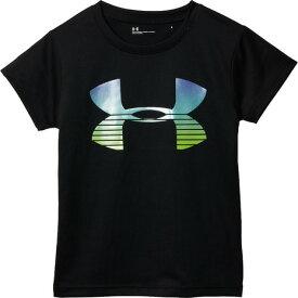 アンダーアーマー(UNDER ARMOUR) ガールズ ビックロゴ 半袖Tシャツ 1328767 BLK/MIR/HVY オンライン価格 (Jr)