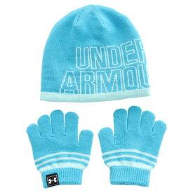 アンダーアーマー(UNDER ARMOUR) ガールズ ニットビーニー手袋セット 1316527 BIF/BSF (Jr)