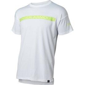 アンダーアーマー(UNDER ARMOUR) Tシャツ メンズ テック ライン テキスト 半袖Tシャツ 1354250 WHT BB 【野球 スポーツ ウェア 一般】 (メンズ)