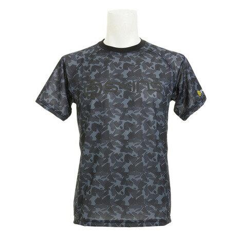 スキンズ(SKINS) 総柄 ベースボール Tシャツ SAS2712X BLK (Men's)