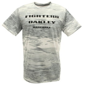 【8月11日までエントリーででP5倍~】オークリー(OAKLEY) Tシャツ メンズ 半袖 北海道日本ハムファイターズ FOBロゴ FOA401508-186 (Men's)