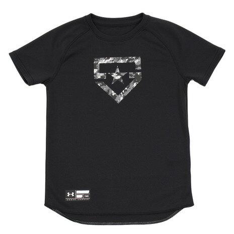 アンダーアーマー(UNDER ARMOUR) ジュニア SOLID ベースボールTシャツ #1313615 BLK/BLK BB (Jr)