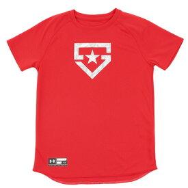 アンダーアーマー(UNDER ARMOUR) ジュニア SOLID ベースボールTシャツ #1313615 RED BB (Jr)
