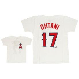 MJ・MLB ジュニア 大谷翔平 ロサンゼルス・エンゼル ネーム&ナンバーTシャツ MM08-ANG-0099-WHT1-17 (Jr)