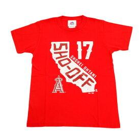 MJ・MLB ジュニア 大谷翔平 ロサンゼルス・エンゼルス SHO-OFF Tシャツ MM08-LA-8005-RD (Jr)