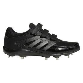 アディダス(adidas) 野球スパイク 黒 ベルト ポイント 一般 アディゼロ スタビル ロー AC 75 EG3583 ブラック (メンズ)