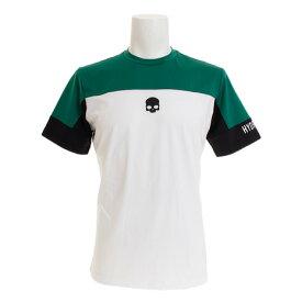 【12月1日24h限定エントリーでP10倍〜】ハイドロゲン(HYDROGEN) テニス ウェア メンズ Tシャツ 半袖 TECH ITALIA ロゴ T00085GR/WH (メンズ)