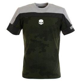 【8/1〜8/2はエントリーでP5倍】ハイドロゲン(HYDROGEN) テニス ウェア CAMO Tシャツ T00126 GREEN (メンズ)