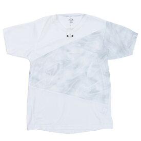 【12月5日24h限定エントリーでP10倍〜】オークリー(OAKLEY) Tシャツ メンズ 半袖 Slant Graphic 1.0 FOA400859-100 (メンズ)
