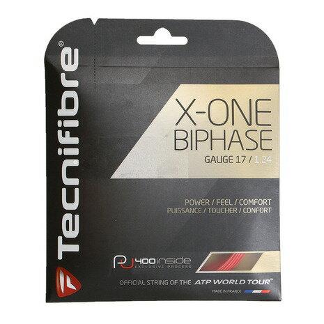 テクニファイバー(Technifibre) 硬式テニスストリング エックス・ワン・バイフェイズ(X-ONE BIPHASE)1.24 TFG901RD24 (Men's、Lady's、Jr)
