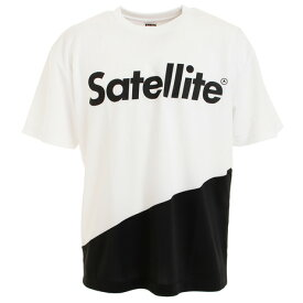 ポイント最大12倍!要エントリー!3月1日0:00〜23:59まで サテライト(Satellite) 2トーン ドライ Tシャツ STS2D WHITE/BLACK (Men's)
