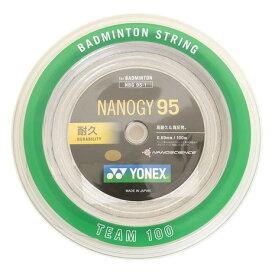 4/1限定!エントリー&楽天カード決済でポイント12倍〜! ヨネックス(YONEX) バドミントンストリング ナノジー95 ロール100M NBG95-1-024 (Men's、Lady's、Jr)