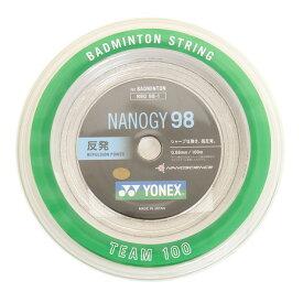 4/1限定!エントリー&楽天カード決済でポイント12倍〜! ヨネックス(YONEX) バドミントンストリング ナノジー98 ロール100M NBG98-1-024 (Men's、Lady's、Jr)