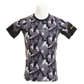 【買いまわりでポイント最大10倍!】スキンズ(SKINS) 総柄スキンフィット 半袖Tシャツ KMMLJA86XB BKKM (Men's)