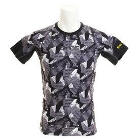 【6/5 24h限定 エントリーでP10倍〜】スキンズ(SKINS) Tシャツ メンズ 【多少の傷汚れありの為大奉仕】総柄スキンフィット 半袖Tシャツ KMMLJA86XB BKKM (Men's)