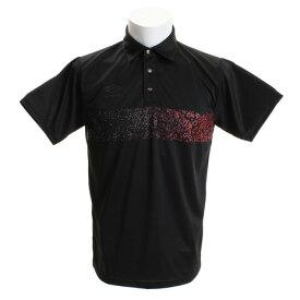 アンブロ(UMBRO) GAKUグラフィック 襟付き半袖シャツ UUUNJA71UG BLK (Men's)