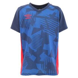 アンブロ(UMBRO) サッカー ウェア 半袖 ジュニア Tシャツ プラクティスシャツ UUJPJA61XB NVY フットサルウェア (キッズ)