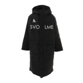 スボルメ(SVOLME) ジュニア ロゴ中綿ベンチコート 1203-65004BK 【ロングコート アウター 防寒】 ブラック 黒 (キッズ)