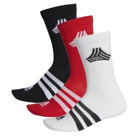 アディダス(adidas) サッカー ソックス 3足組 フットボール ストリート 3ストライプス クルーソックス GMB55-FI9350 靴下 (メンズ)