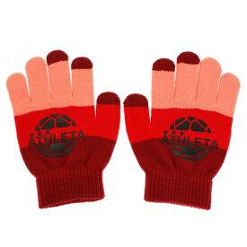 アスレタ(ATHLETA) ジュニア ニットグローブ 5251J RED サッカー フットサル 防寒 手袋 (キッズ)