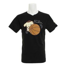 ポムポムプリン(Pom Pom Purin) 【ポイント15倍】【多少の傷汚れありの為大奉仕】Tシャツ 半袖 ポムポムプリン バスケ SR0173003Xクロ 【バスケットボール ウェア】 (メンズ、レディース)