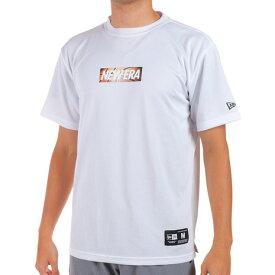 【9/20はエントリーで会員ランク別P10倍】ニューエラ(NEW ERA) バスケットボールウェア 半袖 テック Tシャツ ボックスロゴ バスケットボール 12852934 (メンズ)