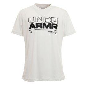 アンダーアーマー(UNDER ARMOUR) Tシャツ メンズ 半袖 ベースライン ルーキー 1353623 WHT BK バスケットボール ウェア (メンズ)
