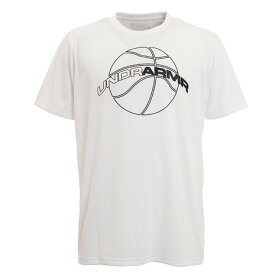 アンダーアーマー(UNDER ARMOUR) Tシャツ メンズ 半袖 ベースライン テック 1353625 WHT/WHT BK 【 バスケットボール ウェア 】 (メンズ)