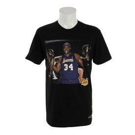ミッチェルアンドネス(Mitchell&Ness) Tシャツ メンズ 半袖 シャキールオニール オフコート BMTRKT18011LALBLCKSON 【 バスケットボール ウェア 】 (メンズ)