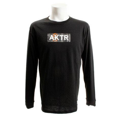 アクター(AKTR) CONCRETE ロゴ 長袖Tシャツ 218-003005 BK (Men's)