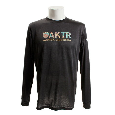 アクター(AKTR) RAINCAMO18 ロゴ 長袖Tシャツ 218-009005 BK (Men's)