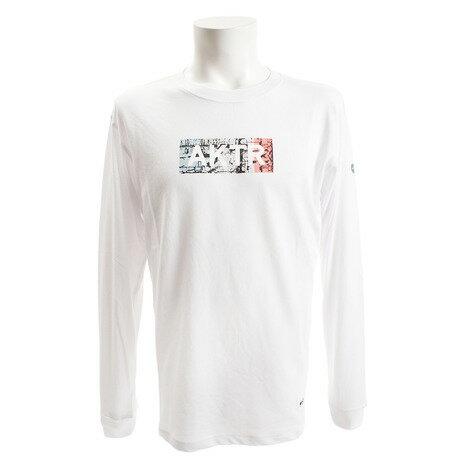 アクター(AKTR) CONCRETE ロゴ 長袖Tシャツ 218-003005 WH (Men's)