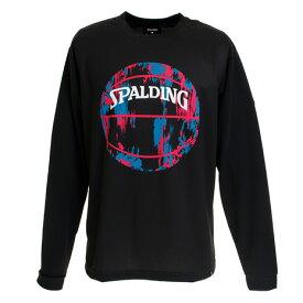 【7月10日限定 エントリー&楽天カード決済でP10倍〜】スポルディング(SPALDING) Tシャツ メンズ 長袖 マーブルボール SMT191210BP 【 バスケットボール ウェア 】 (Men's)