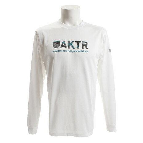 アクター(AKTR) RAINCAMO18 ロゴ 長袖Tシャツ 218-009005 WH (Men's)