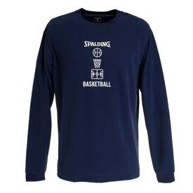 スポルディング(SPALDING) Tシャツ メンズ 長袖 バスケットボールモチーフ SMT191120 【バスケットボール ウェア】 (メンズ)