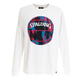 【7月10日限定 エントリー&楽天カード決済でP10倍〜】スポルディング(SPALDING) Tシャツ メンズ 長袖 マーブルボール SMT191210WP 【 バスケットボール ウェア 】 (Men's)