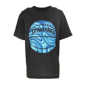 【8/1〜8/2はエントリーでP5倍】スポルディング(SPALDING) ジュニア Tシャツ ネオンマーブルボール SJT201660 (キッズ)