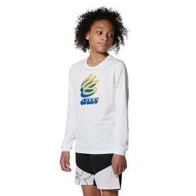 【9/20はエントリーで会員ランク別P10倍】アンダーアーマー(UNDER ARMOUR) バスケットボールウェア ジュニア カリー テック ロングスリーブ Tシャツ 1368974 100 (キッズ)