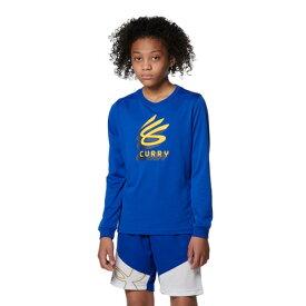 アンダーアーマー(UNDER ARMOUR) バスケットボールウェア ジュニア カリー テック ロングスリーブ Tシャツ 1368974 400 (キッズ)