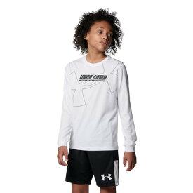 アンダーアーマー(UNDER ARMOUR) バスケットボールウェア ジュニア テック ロングスリーブ Tシャツ 1368975 100 (キッズ)