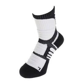 アンダーアーマー(UNDER ARMOUR) バスケットボール ソックス ドライブクルー ソックス 1312567 メンズ ホワイト 靴下 (メンズ、レディース)