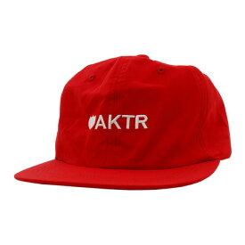 アクター(AKTR) LOGO 6PANEL CAP 118-044021 RD (メンズ)