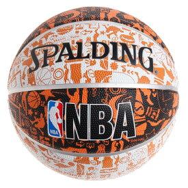 スポルディング(SPALDING) バスケットボール 5号球 (小学校用) ジュニア グラフィティ オレンジ ラバー NBAロゴ入り 83-360J 自主練 (キッズ)