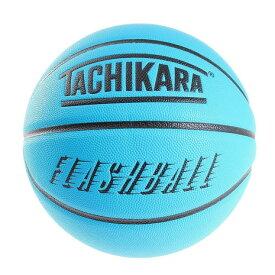 タチカラ(TACHIKARA) バスケットボール 7号球 FLASHBALL ネオンブルー SB7-242 (メンズ、レディース)