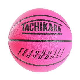 タチカラ(TACHIKARA) バスケットボール 7号球 (一般 大学 高校 中学校) 男子用 FLASHBALL ネオンピンク SB7-243 自主練 (メンズ、レディース)
