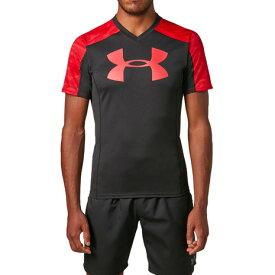 4/1限定!エントリー&楽天カード決済でポイント12倍〜! アンダーアーマー(UNDER ARMOUR) ラグビープラクティスTシャツ #1312828 BLK/RED/RED RG (Men's)